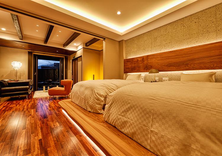 椛:ベッド、リビング